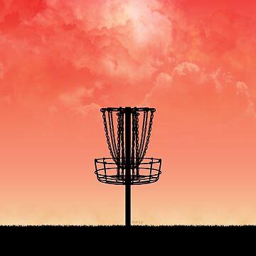 Disc Golf Basket Silhouette by perkinsdesigns
