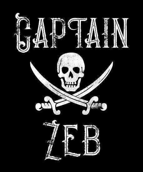 Personalized Captain Zeb Shirt Vintage Pirates Shirt Personal Name Pirate TShirt by FairOaksDesigns