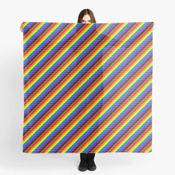 IPA scarf - rainbow including black and brown stripes Scarf