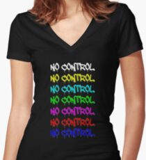 No Control Women's Fitted V-Neck T-Shirt