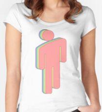 Rainbow Billie Eilish logo Women's Fitted Scoop T-Shirt