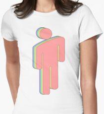 Rainbow Billie Eilish logo Women's Fitted T-Shirt