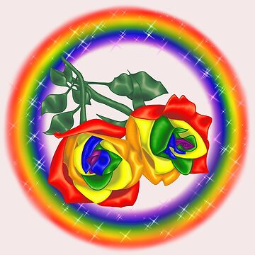 Gay pride roses by HauntedIndigo