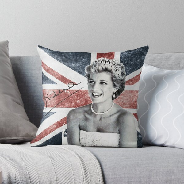 Lady Diana Throw Pillow