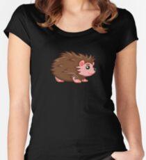 cute Hedgehog Women's Fitted Scoop T-Shirt