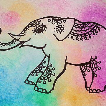 Happy Elephant by Unicornuss