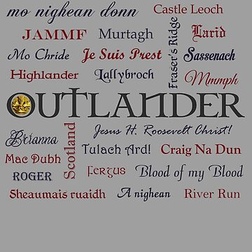Outlander title and words  by Sassenach616