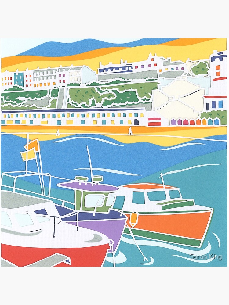 Broadstairs Beach Papercut  by SarahAppleSeed