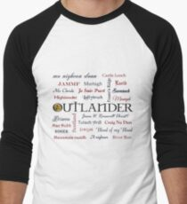Outlander title and words  Baseball ¾ Sleeve T-Shirt