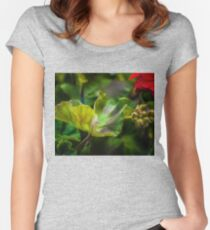 MYSTIC BLOOMS Women's Fitted Scoop T-Shirt