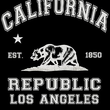 Republic Of California State Flag Grunge Look by ThreadsNouveau