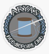 Needlepoint Club Transparent Sticker