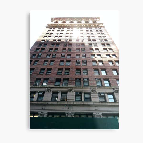 New York, Manhattan, #NewYork, #Manhattan, Tower Block, #TowerBlock, High-Rise Building, #HighRiseBuilding Metal Print