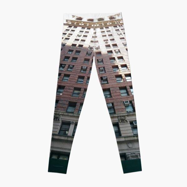 New York, Manhattan, #NewYork, #Manhattan, Tower Block, #TowerBlock, High-Rise Building, #HighRiseBuilding Leggings