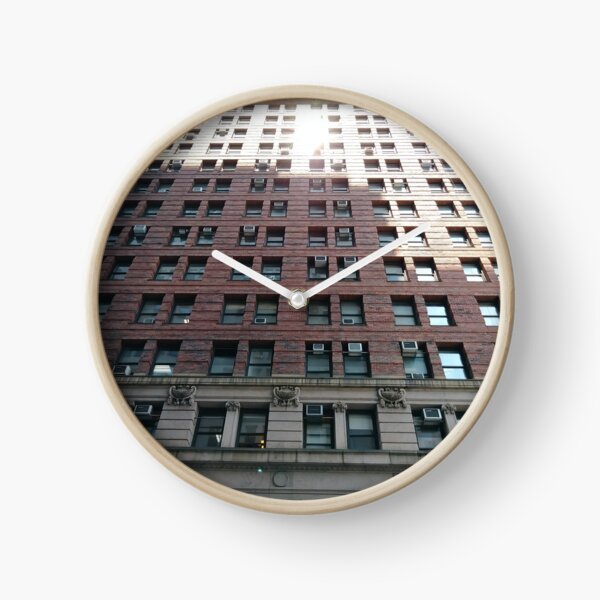 New York, Manhattan, #NewYork, #Manhattan, Tower Block, #TowerBlock, High-Rise Building, #HighRiseBuilding Clock