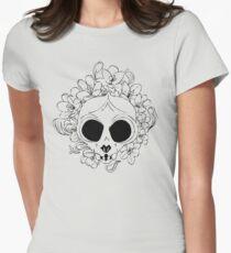 Crocus skull Women's Fitted T-Shirt