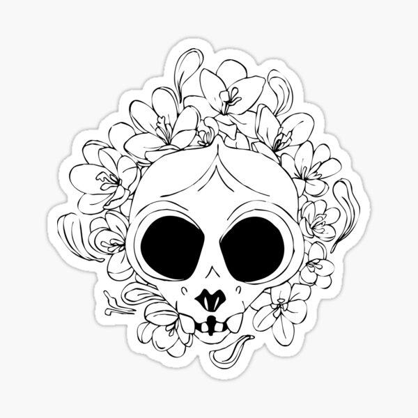 Crocus skull Sticker