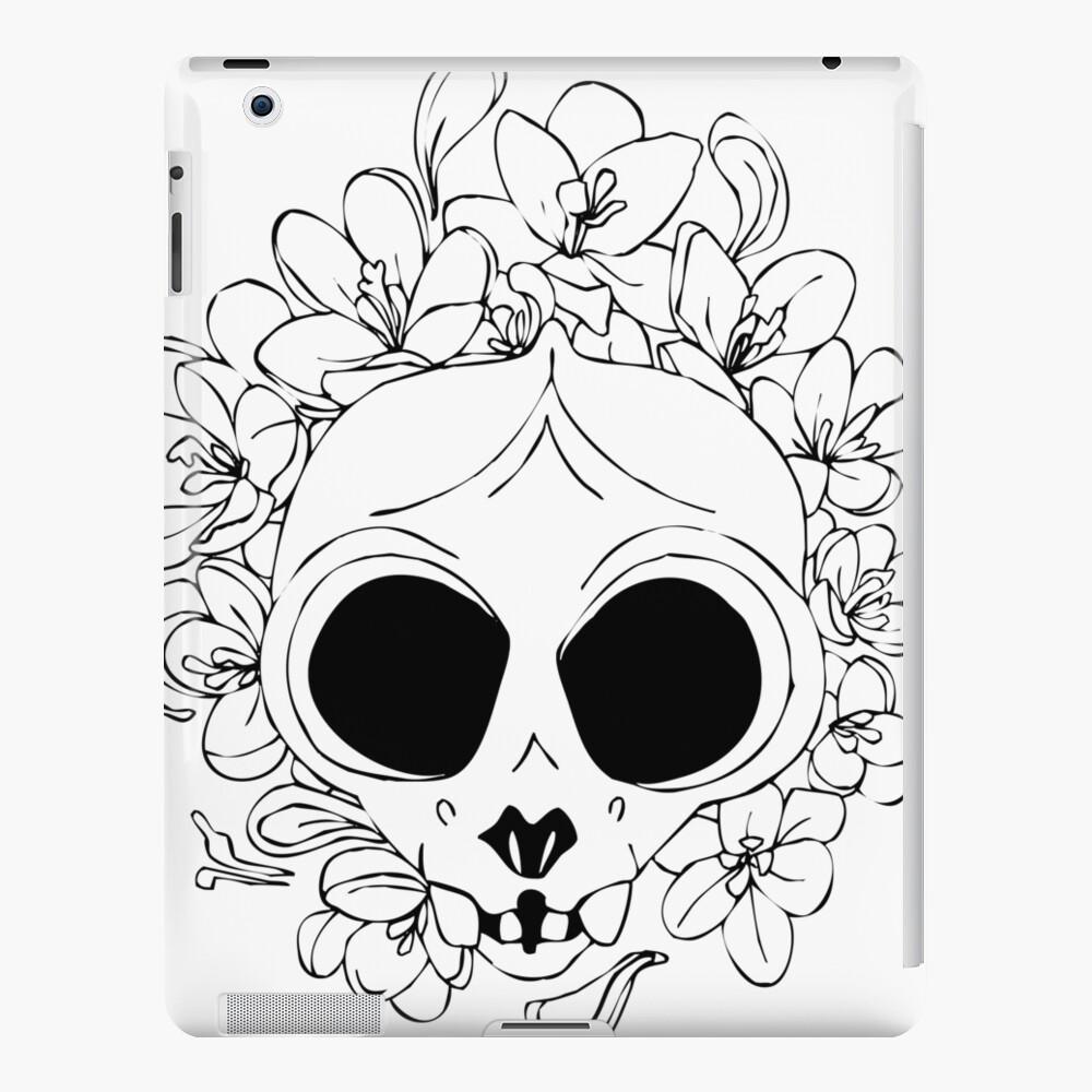 Crocus skull iPad Case & Skin
