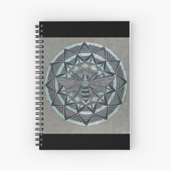 Honey Bee Mandala Spiral Notebook