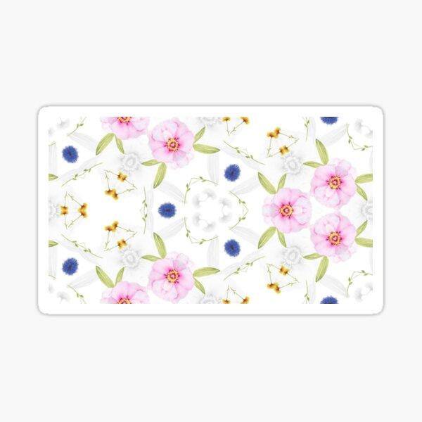 blaue Pastell Gänseblümchen rosa floral weich Sticker