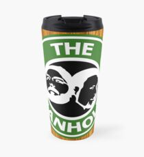 The Beanholes Woodgrain Travel Mug