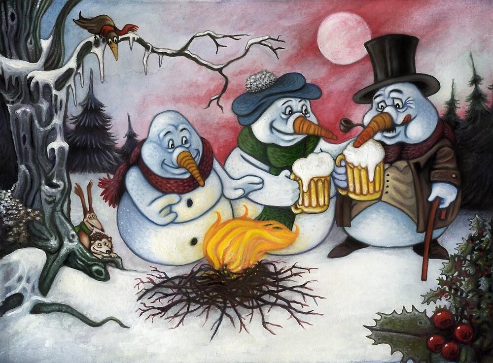 The merry snowmen by Stijn Van Elst