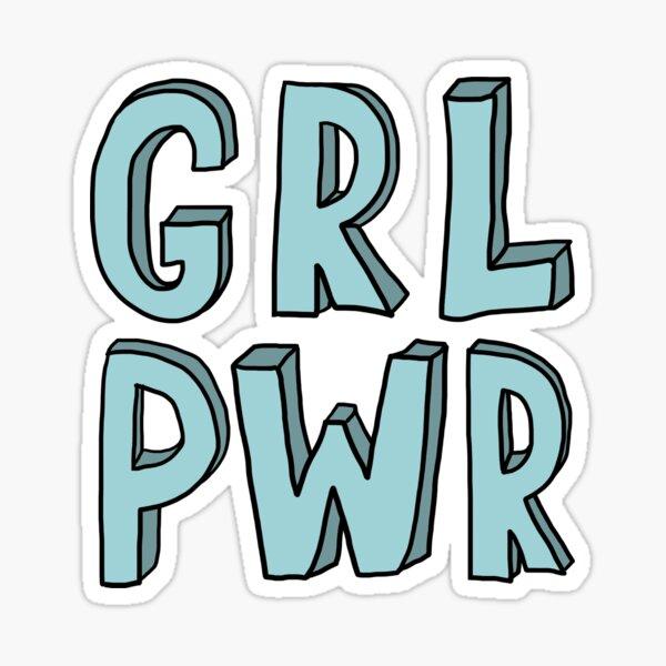 Grl Pwr- blue Sticker