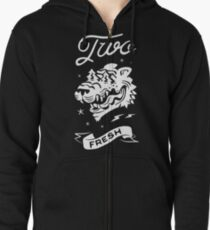 SCRIBE CAT QUEST Zipped Hoodie
