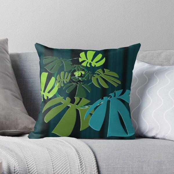 Spiral Monstera Throw Pillow