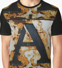 Rusty Letter A Graphic T-Shirt