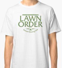 Lawn Order Parody Law & Order Grass Cutting Lawn Mowing Classic T-Shirt