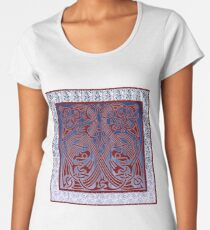 Nordic Inspired Borre Style Viking Age Design with a Modern Twist. Women's Premium T-Shirt