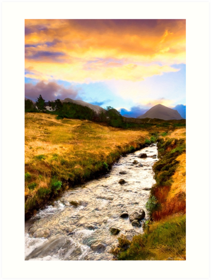 Faery Lands - Isle of Skye At Dawn by Mark Tisdale