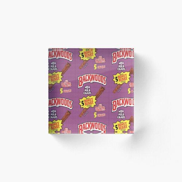 Backwoods Honey Berry Cigar Leafs Acrylic Block