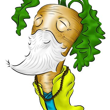 The Wise Carrot - Monk Sticker by thewisecarrot
