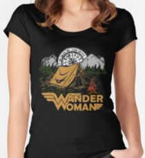 Wander Woman Funny Camping Love Gift for Women T-shirt Women's Fitted Scoop T-Shirt
