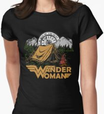 Wander Woman Funny Camping Love Gift for Women T-shirt Women's Fitted T-Shirt