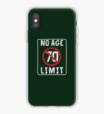 No Age Limit 70th Birthday Gifts Funny B-day for 70 Year Old iPhone Case