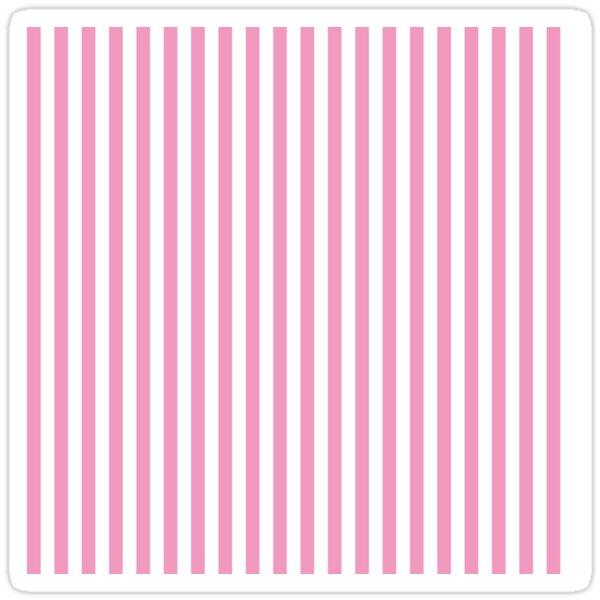 Small Horizontal Light Pink Stripes