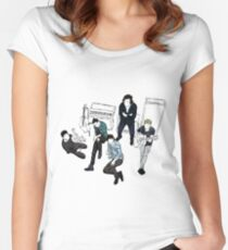 one direction group [2, dark] Women's Fitted Scoop T-Shirt