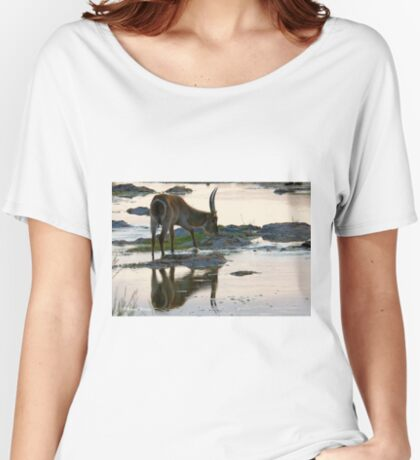 A REFLECTION - THE WATERBUCK – Kobus ellipsiprymnus Women's Relaxed Fit T-Shirt