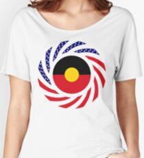 Australian Aboriginal American Multinational Patriot Flag Series Women's Relaxed Fit T-Shirt
