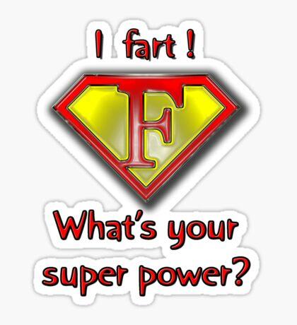 Super Fart Sticker