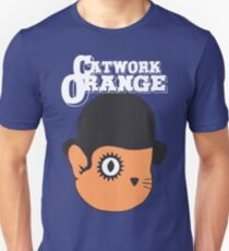 Catwork Orange Funny Geek Nerd T-Shirt