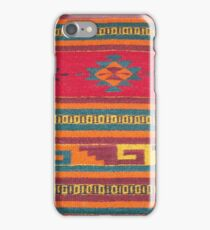 Colorful red Aztec Pattern iPhone Case/Skin