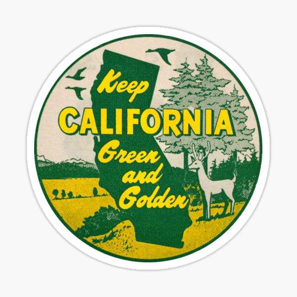 Keep California Green and Golden Vintage Sticker
