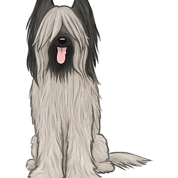 Briard Cartoon Dog by ShortCoffee