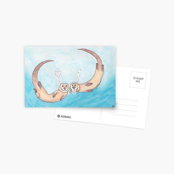 Otter love 2 Postcard
