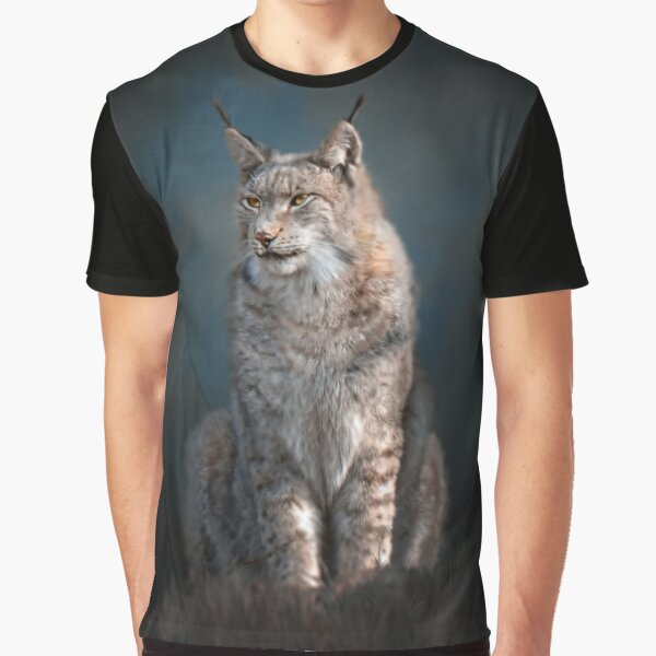 Sitting iberian lynx Graphic T-Shirt