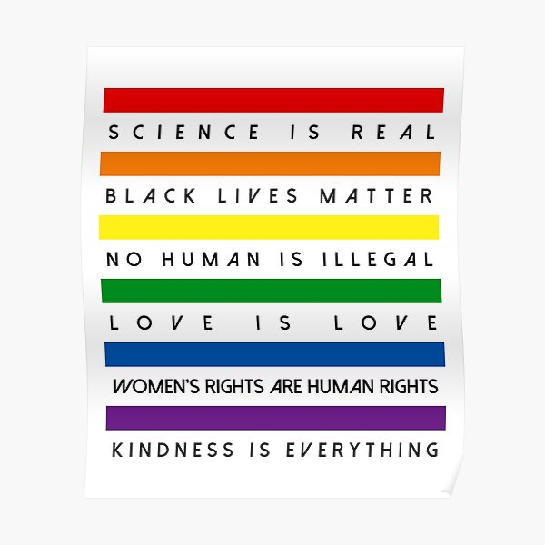 Science is Real Black Lives Matter Poster